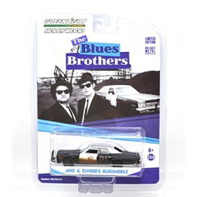 BLUES BROTHERS JAKE & ELWOOD'S BLUESMOBILE - GREENLIGHT HOLLYWOOD 1:64SCALE