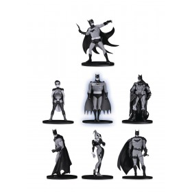 Batman Black and White Mini Figure 7 - Pack Box Set 2 (9,5 cm)