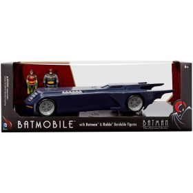 Batman The Animated Series - Batmobile With Bendable Batman & Robin