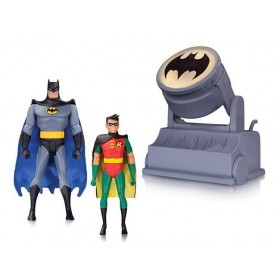 Batman: the Animated Series Batman and Robin with Bat-Signal