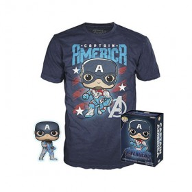 Avengers Endgame - Captain America Exclusive Pop! + T-Shirt (XL)