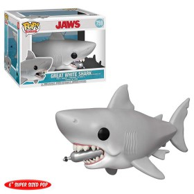 JAWS Great White Shark with diving tank (6 pulgadas)