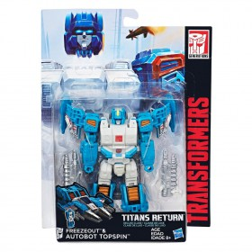 TRANSFORMERS - GENERATIONS  - TITANS RETURN - FREEZOUT & AUTOBOT TOPSPIN