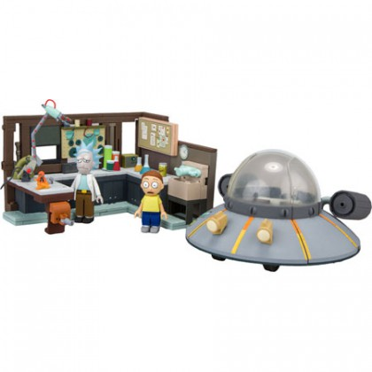 Rick and Morty - Spaceship and garage (incluye dos figuras)