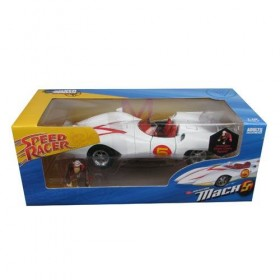 Speed Racer The Amazing Mach 5 Silver Screen Machines 1:18 Scale Die-Cast Metal Vehicle