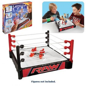 WWE Double Attack Total Control Takedown Super Strikers Ring Playset