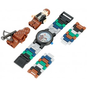 LEGO Kids Star Wars Han Solo and Chewbacca Watch with Two Mini Figures