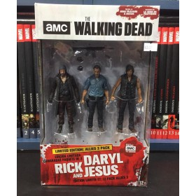 The Walking Dead (Rick/Daryl/Jesus) set de 3 figuras