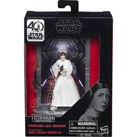 BLACK SERIES 40TH ANNIVERSARY TITANIUM SERIES 3 3/4-INCH DIE-CAST METAL - PRINCESS LEIA ORGANA