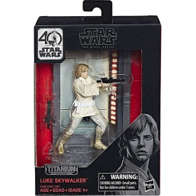 BLACK SERIES 40TH ANNIVERSARY TITANIUM SERIES 3 3/4-INCH DIE-CAST METAL - LUKE SKYWALKER