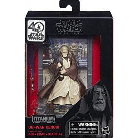BLACK SERIES 40TH ANNIVERSARY TITANIUM SERIES 3 3/4-INCH DIE-CAST METAL - OBI-WAN KENOBI