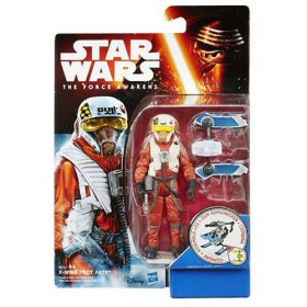 Star Wars The Force Awakens 3.75 Inch Action Figure Snow and Desert Wave 4 - X-Wing Pilot Asty