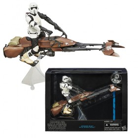 Star Wars Black Series - Speeder Bike with Biker Scout
