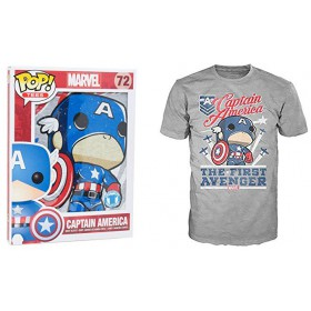 CAPTAIN AMERICA (L) FUNKO POP! TEES
