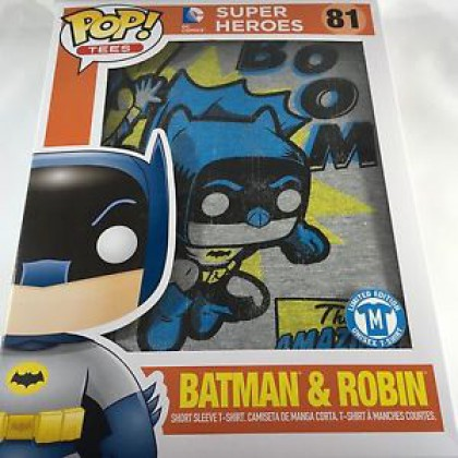 FUNKO POP! TEES - DC SUPER HEROES: BATMAN & ROBIN