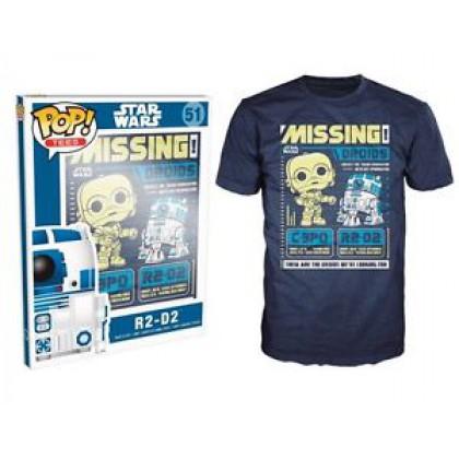 FUNKO POP! TEES - STAR WARS: R2-D2 (S-M-XL)