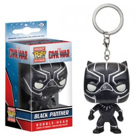 POP! VINYL FIGURE KEYCHAIN - CIVIL WAR - BLACK PANTHER