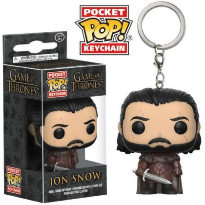 POP! VINYL FIGURE KEYCHAIN - GAME OF THRONES -  JON SNOW
