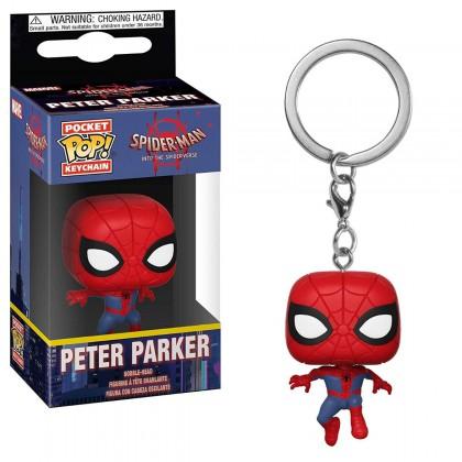 Spider-Man into the Spiderverse Peter Parker llavero Pop!