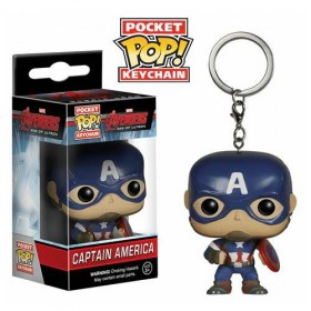 Pop! Vinyl Figure Key Chain - Capitan America